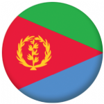 Eritrea Country Flag 58mm Keyring